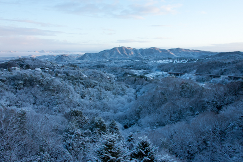 Winter scenery in Arima Onsen
